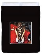 Puppy Play. Human Canine Training Duvet Cover