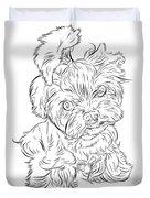 Puppy_printfilecopy Duvet Cover
