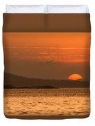 Pure Golden Sunset Duvet Cover
