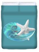 Pure Joy - Starfish With Nautilus Shell Duvet Cover