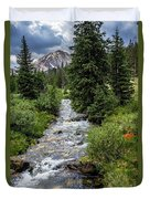 Pure Rocky Mtn. Spring Water Duvet Cover