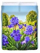 Pure Sapphire Iris Duvet Cover