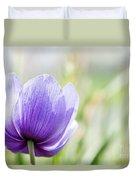 Purple Anemore Flower Duvet Cover