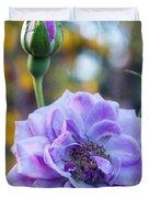 Purple Rose Glow Duvet Cover