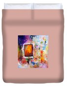 Purple Abstract Oil Painting Purplicious Duvet Cover