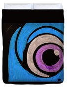 Purple And Blue Eyeball In Saint Augustine Florida Duvet Cover