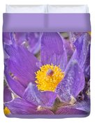 Purple And Gold - Bright Duvet Cover