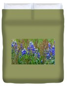 Purple And Grass Duvet Cover