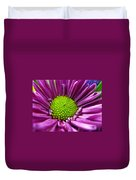 Purple And Green Duvet Cover