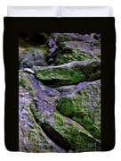 Purple And Green Rock Duvet Cover