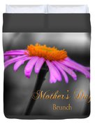 Purple And Orange Coneflower Mothers Day Brunch Duvet Cover