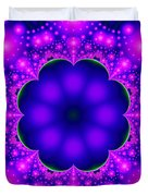 Purple And Pink Glow Fractal Duvet Cover