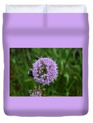 Purple And The Bee Duvet Cover