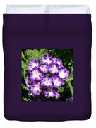 Purple And White Bouquet Duvet Cover