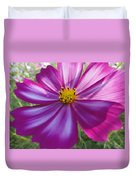 Purple And White Cosmos Duvet Cover