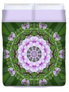 Purple And White Flowers  Duvet Cover