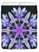 Purple And White Frosted Queen Mandala Duvet Cover