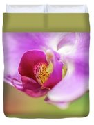 Purple And White Orchid 2 Duvet Cover