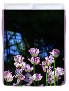 Purple And White Tulips - Photopainting Duvet Cover