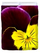 Purple And Yellow Pansy Duvet Cover