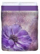 Purple Anemone Art Duvet Cover