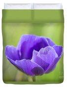 Purple Anemone Flower Duvet Cover