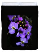 Purple Arctic Wild Flowers Duvet Cover