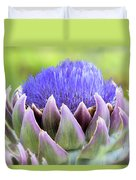 Purple Artichoke Flower  Duvet Cover