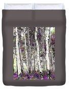 Purple Aspens Duvet Cover