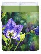 Purple Bell Flower Duvet Cover
