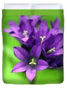 Purple Blooms Duvet Cover
