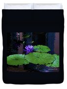 Purple Blue  Lily Duvet Cover