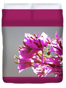 Purple Bougainvillea Flower Duvet Cover