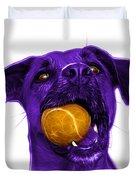 Purple Boxer Mix Dog Art - 8173 - Wb Duvet Cover