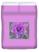Purple Cabbage Plant Duvet Cover