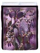 Purple Cactus Canvas Duvet Cover