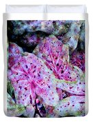 Purple Caladium Duvet Cover