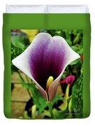 Purple - Calla Lily - Bloom Duvet Cover