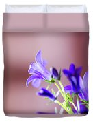 Purple Campanula Blooms Duvet Cover