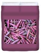 Purple Carrots Number 1 Duvet Cover