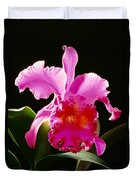 Purple Cattleya Duvet Cover