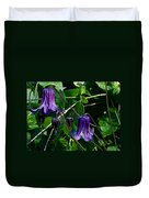 Purple Clamatis Bells Duvet Cover