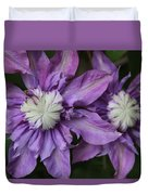 Purple Clematis 2 Duvet Cover