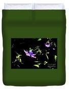 Purple Clematis 4 Duvet Cover