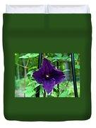 Purple Clematis Henryi Duvet Cover