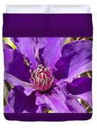 Purple Clematis IIi Duvet Cover