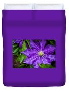 Purple Clematis Duvet Cover