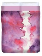 Purple Clouds Abstract Watercolor Duvet Cover
