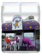 Purple Cow 1 Duvet Cover