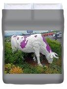 Purple Cow 4 Duvet Cover
